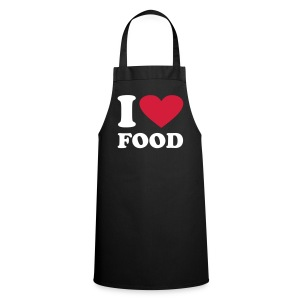 I Love Food Apron - Cooking Apron