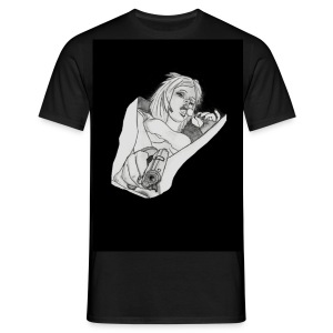 Girl with gun (Man) - Männer T-Shirt