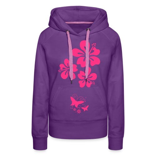 Blumen-Motiv - Frauen Premium Hoodie