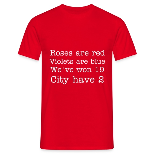 'Roses are red' tee. - Men's T-Shirt