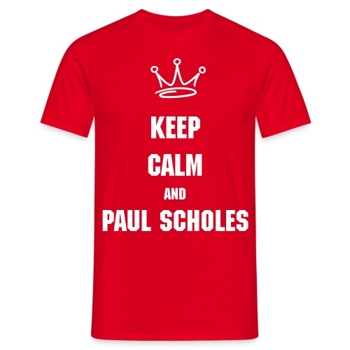 'Keep Calm and Paul Scholes' tee. - Men's T-Shirt