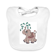 Baby hagesmække ~ Baby økologisk hagesmæk ~ Elephant girl