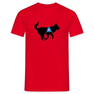 Rettungshund mit Kenndecke - Männer T-Shirt