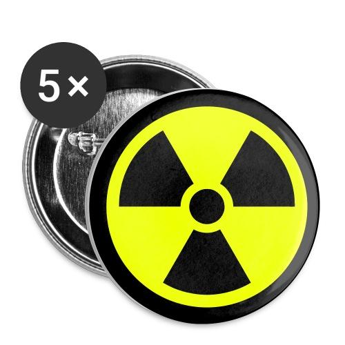 Ydinvoima pinssi - Rintamerkit pienet 25 mm (5kpl pakkauksessa)