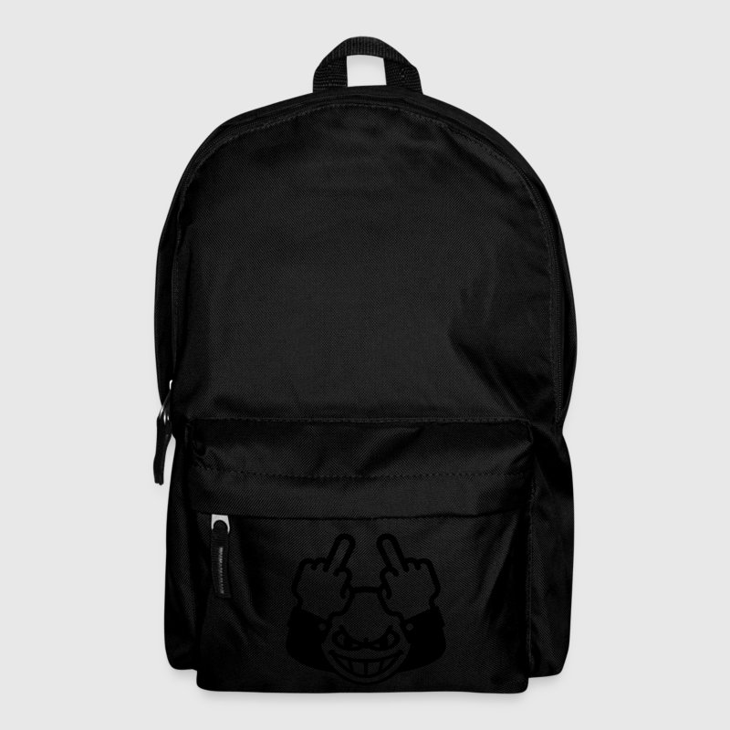 Nasty Emoticon (fuck off / fuck you, 1C) Backpack - Backpack