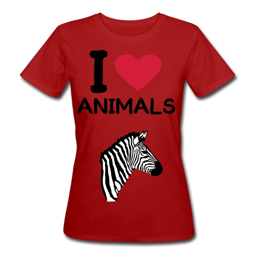 I love animal - Frauen Bio-T-Shirt
