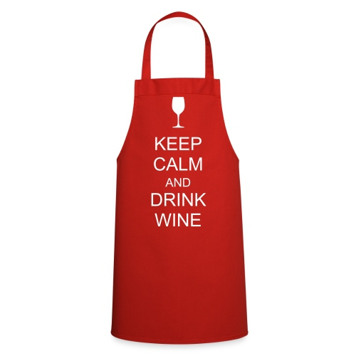 KEEP CALM AND DRINK WINE Apron - Cooking Apron