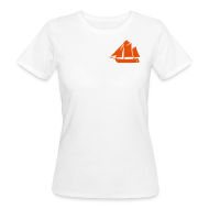 T-Shirts ~ Frauen Bio-T-Shirt ~ Zeesboot Silhouette auf hell