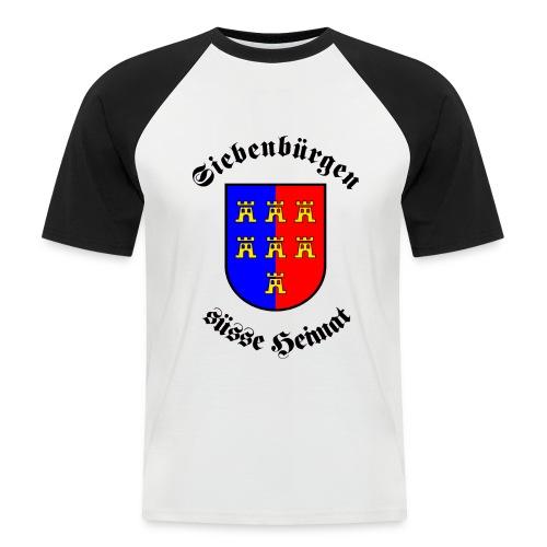 T-Shirt 'Siebenbürgen suesse Heimat' - Wappen der Siebenbürger Sachsen - Männer Baseball-T-Shirt
