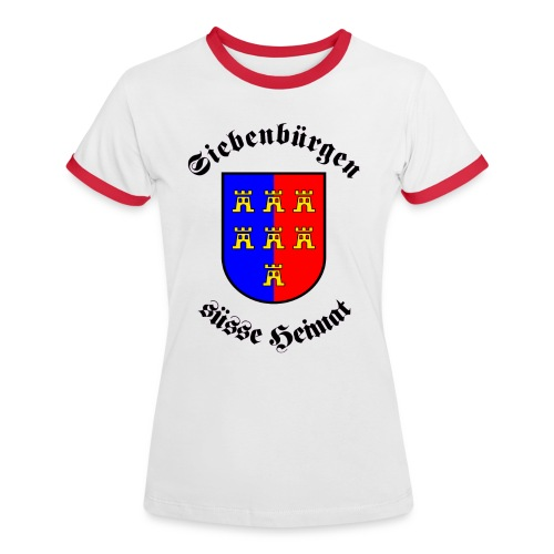 T-Shirt Siebenbürgen süße Heimat - Frauen Kontrast-T-Shirt