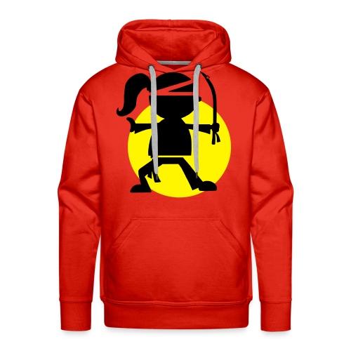 NINJA HOODIE RED - Men's Premium Hoodie