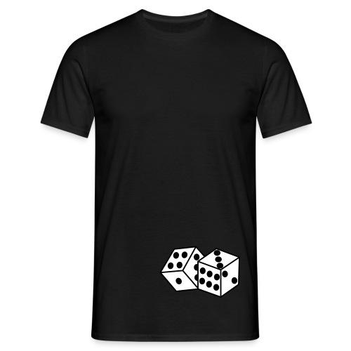 Mannen T-shirt dobbelsteen - Mannen T-shirt