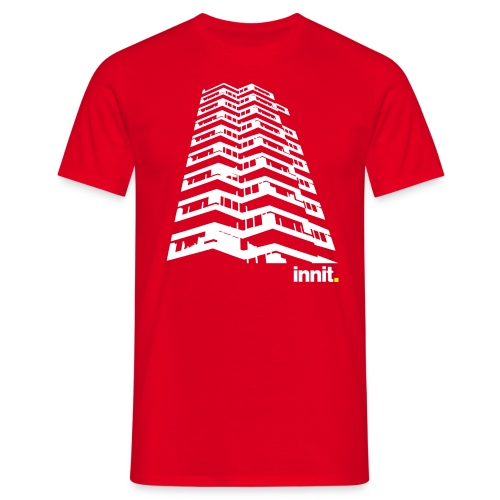 Innit 50PencePiece Red - Men's T-Shirt