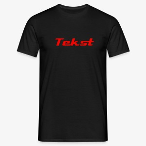 Merk T-shirt plus tekst bedrukking - Brand T-shirt printing with text. - Men's T-Shirt