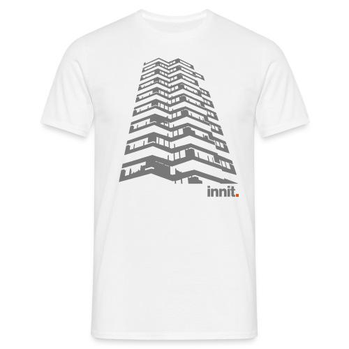 Innit 50PencePiece White  - Men's T-Shirt
