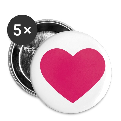 Love - Buttons large 2.2''/56 mm (5-pack)