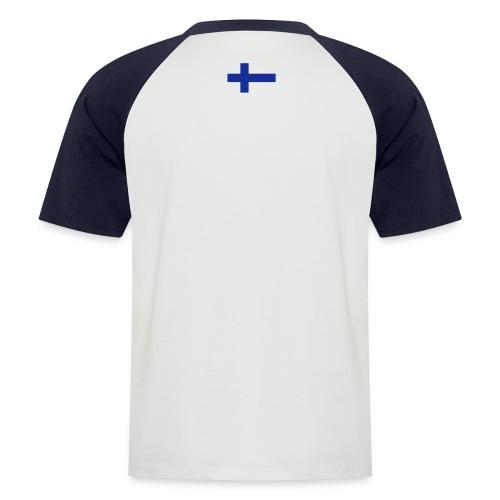 t-shirt finlandsflagga - Kortärmad basebolltröja herr