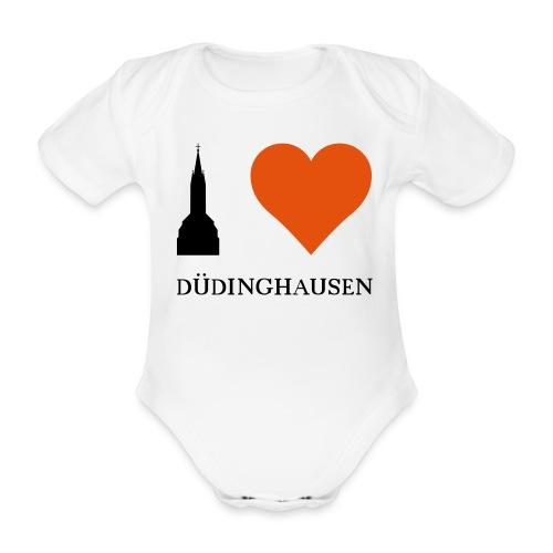 Baby Body - I love Düdinghausen-Silhouette - Baby Bio-Kurzarm-Body
