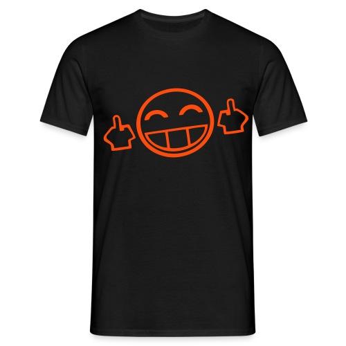 mittelfinger smilie - Männer T-Shirt