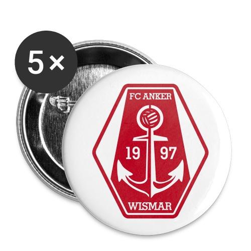 5 FCA-Buttons für Dich und Deine Freunde - Buttons mittel 32 mm
