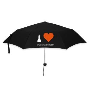 Schirm Schwarz: I love Düdinghausenv - Silhouette - Regenschirm (klein)