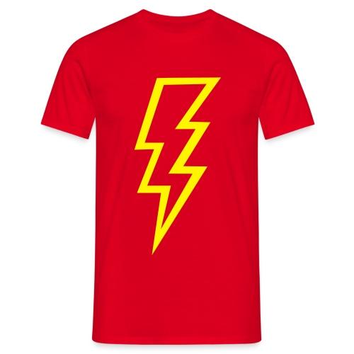 camisa clasica rayo amarillo - Camiseta hombre