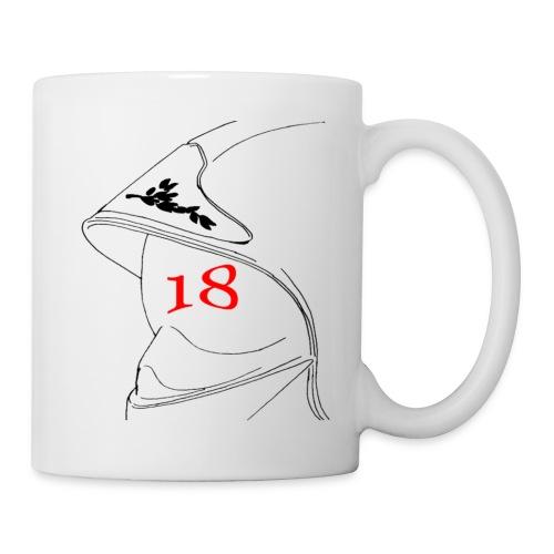 Mug blanc - 112,18,France,Sapeurs,alarme,botte,casque,extincteur,feu,grade,incendie,lance,pompiers,professionnel,sauvetage,secourisme,sécurité,veste,volontaire