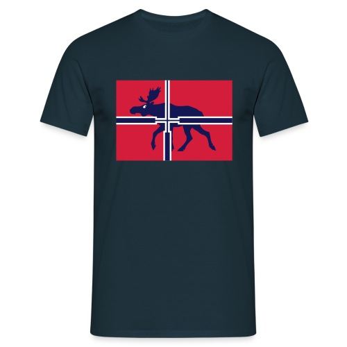 elgjeger, offisielt norsk jaktsflagg - T-skjorte for menn