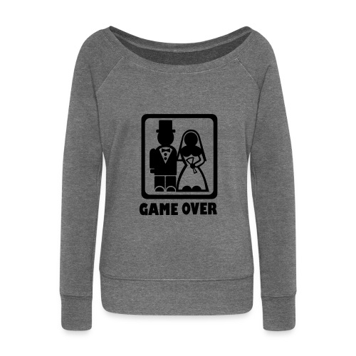 Lady Game Over - Women's Boat Neck Long Sleeve Top