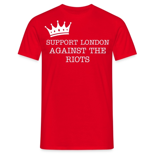 Support For London - Red - Men's T-Shirt