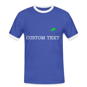 N-GEN MENS CONTRAST T-SHIRT WITH CUSTOM TEXT - Men's Ringer Shirt