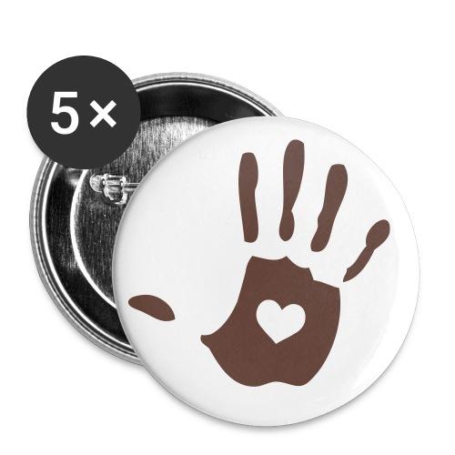 5 Chapas logo solidario #Marron - Chapa pequeña 25 mm