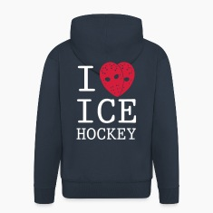 'I Love Ice Hockey' Veste à capuche homme