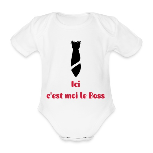 Body - The Boss - Body bébé bio manches courtes