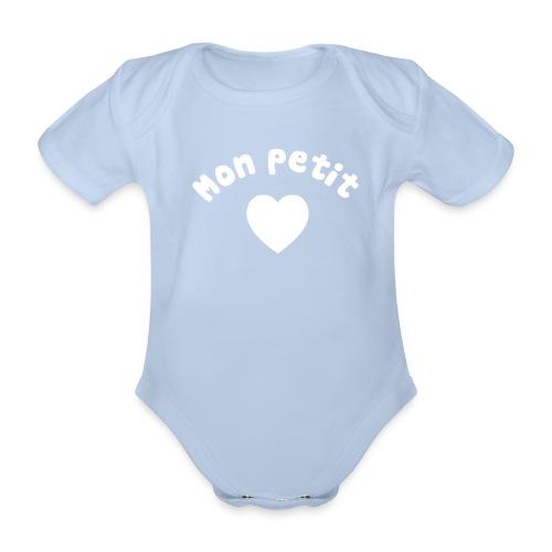 Mon petit coeur - Body bébé bio manches courtes