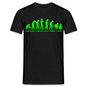 Evolution of Man Neon - Men's T-Shirt