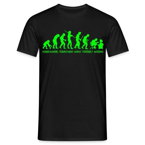 Evolution of Man Neon - Men's T-Shirt