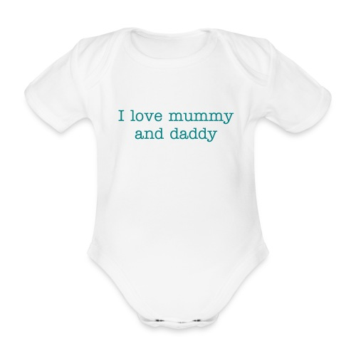 I Love .... - Organic Short-sleeved Baby Bodysuit