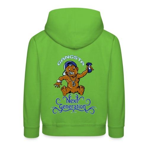 Gangsta the new generation - Premium hættetrøje til børn