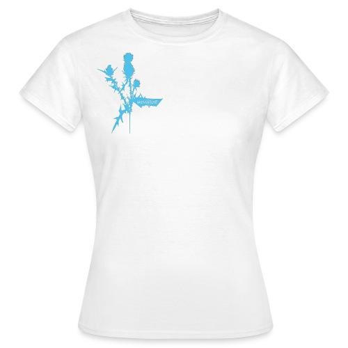 Hassblüte Distel Klette/ 2 prints auf 1/ piecken stechen Pflanze Blüte Blume Dornen - Frauen T-Shirt