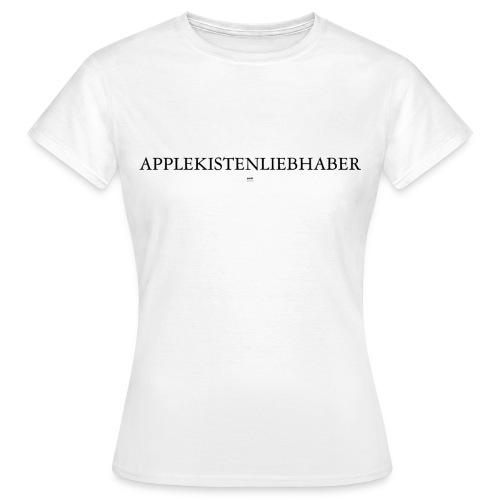 Applekistenliebhaber Apfelkiste apple macintosh computer internet grafiker designer - Frauen T-Shirt