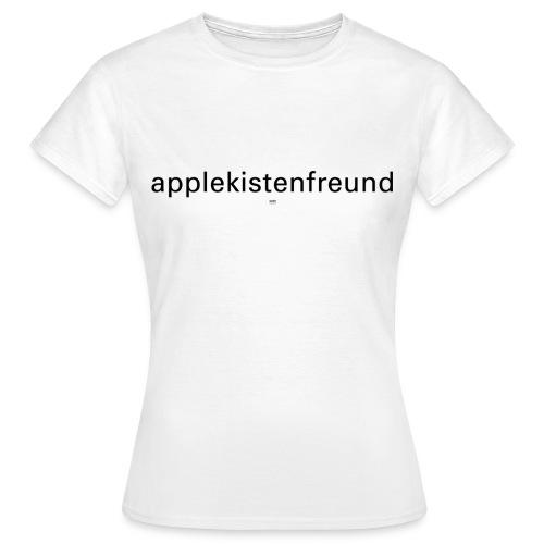 Applekistenfreund Apfelkiste apple macintosh computer internet grafiker designer - Frauen T-Shirt
