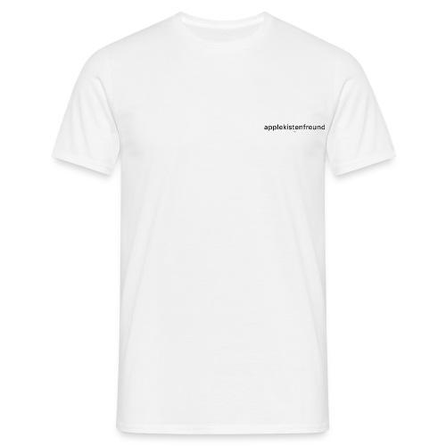 Applekistenfreund Apfelkiste apple macintosh/ 2 prints auf 1/ computer internet grafiker designer - Männer T-Shirt