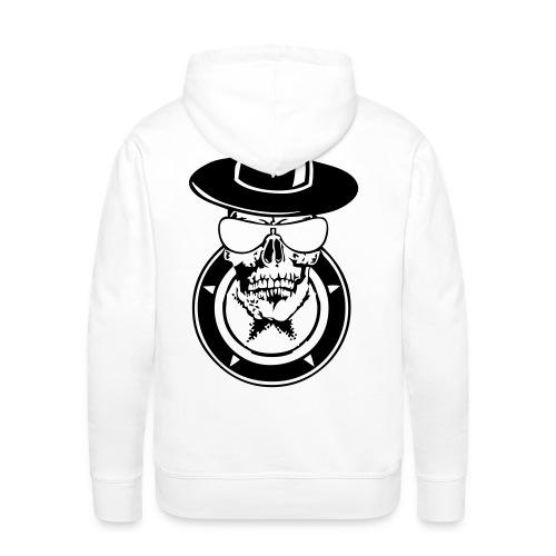43bf331a1b7d tete de mort avec une etoile dans un cercle - Sweat-shirt à capuche Premium
