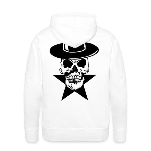 tete de mort avec chapeau etoile 5 - Sweat-shirt à capuche Premium pour hommes
