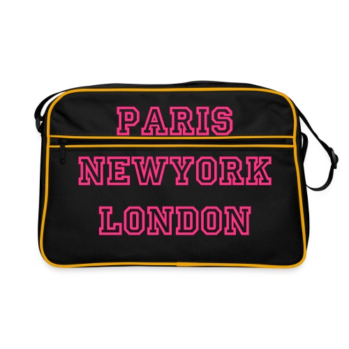 paris newyork london - Retro Bag