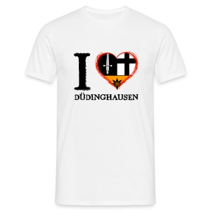 Männer T-shirt klassisch: I love - gekrikelt - Männer T-Shirt