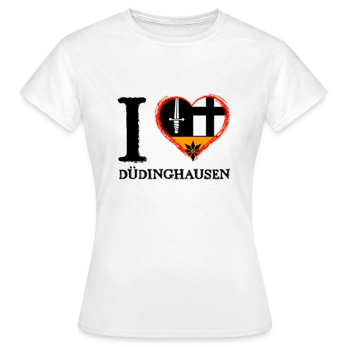 Frauen T-shirt klassisch: I love - gekrikelt - Frauen T-Shirt