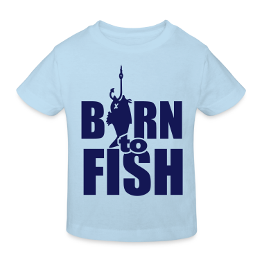 born to fish (Angeln, b, 1c) Kids' Shirts