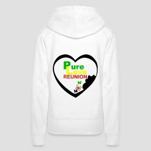 Sweatshirt à capuche Femme Vraie Amour Réunion - Sweat-shirt à capuche Premium pour femmes